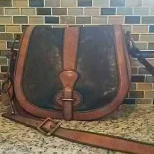 Vintage Fossil Reissue Flap Crossbody Bag